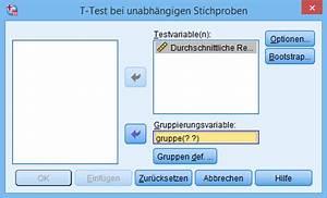 Reaktionszeit Berechnen : ungepaarten t test in spss berechnen statistikguru ~ Themetempest.com Abrechnung