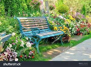 Flower Lovely Bench Lavender Garden Full Hd Flower Rose ...