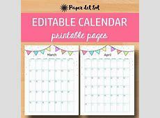 Printable Calendar, 2019 Calendar, Printable Calendars