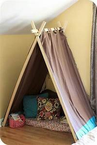 Fabriquer Tipi Enfant : fabriquer des rideaux voil deux autres exemples de tipis faits maison que vous pouvez child ~ Voncanada.com Idées de Décoration