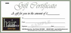 giftcertificate images usseekcom With free printable hair salon gift certificate template