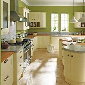 Get incorporated with attractive kitchen ideas green for for Best brand of paint for kitchen cabinets with maps as wall art