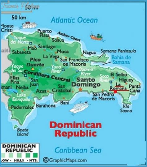 dominican republic map tourist attractions