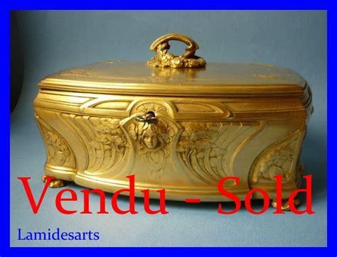 big nouveau gilt bronze box signed lelievre for marquise sevigne 1900