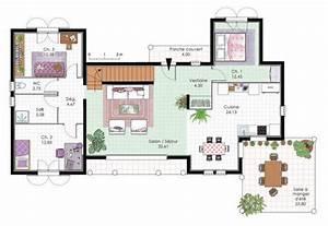vaste villa familiale detail du plan de vaste villa With plan de maison 120m2 3 vaste villa detail du plan de vaste villa faire