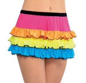 Electric Party Neon Skirt Party City
