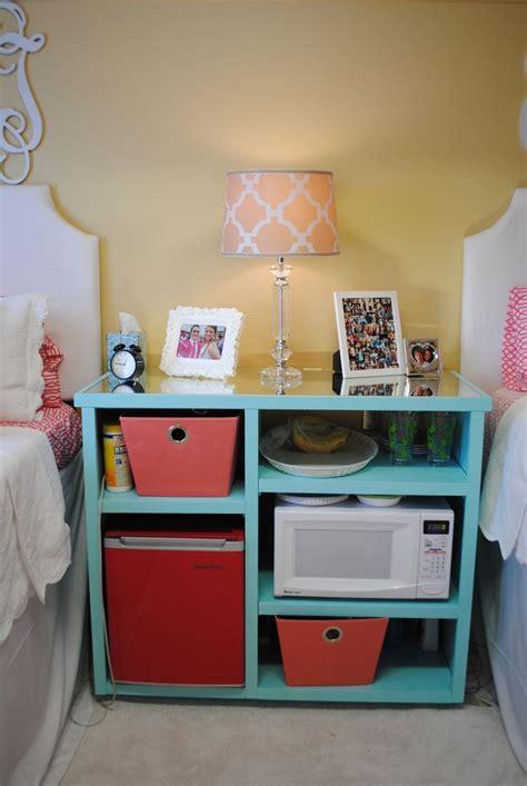 My custom built nightstand/mini fridge microwave stand Ole Miss Crosby corner dorm room   Great