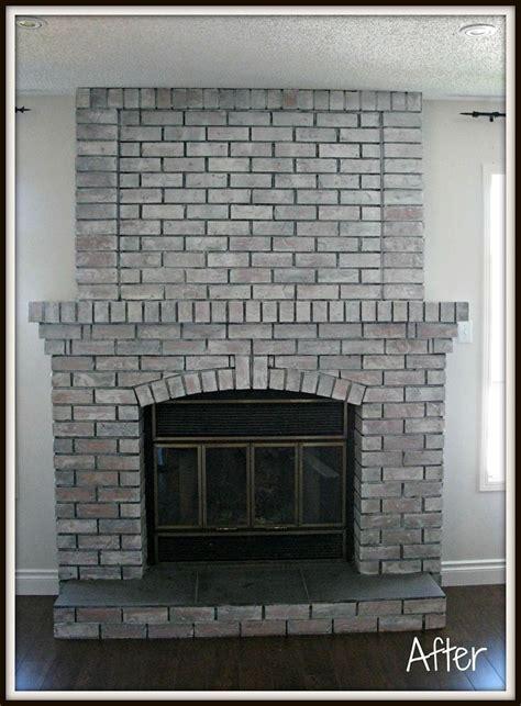 image result  whitewash fireplace  dark grout