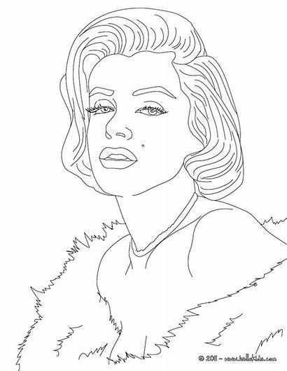 Coloring Pages Monroe Marilyn Marylin Hellokids Sheets
