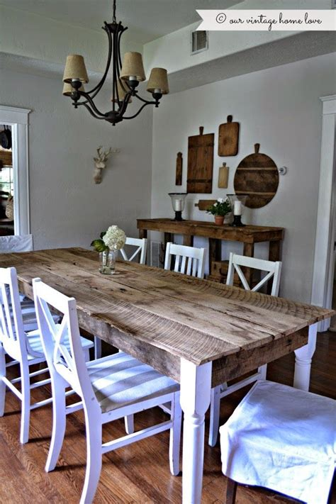 gorgeous farm table   recycled barn wood