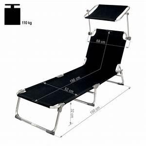 Bain De Soleil Noir : 4x alu chaise longue de jardin pliante transat bain de ~ Edinachiropracticcenter.com Idées de Décoration
