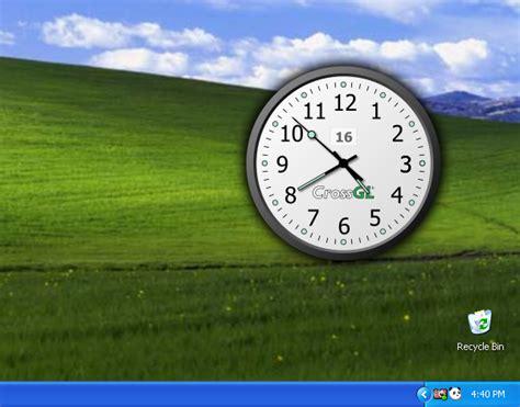 horloge de bureau windows crossgl surface clock télécharger