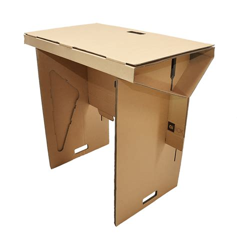 cardboard stand up desk introducing the standing desk by aibox aibox