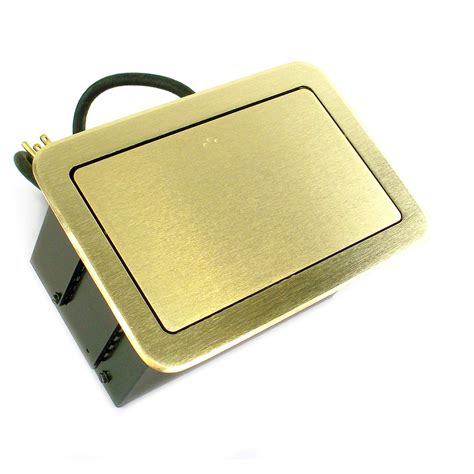 Wiremold Fsr Floor Box by Fsr Table Top Flip Box Brass Ac Duplex Cover T3u 2r Brs Ebay