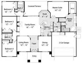 4 bedroom 2 bath floor plans 2089 square 4 bedrooms 3 batrooms 2 parking space on 1 levels house plan 8969