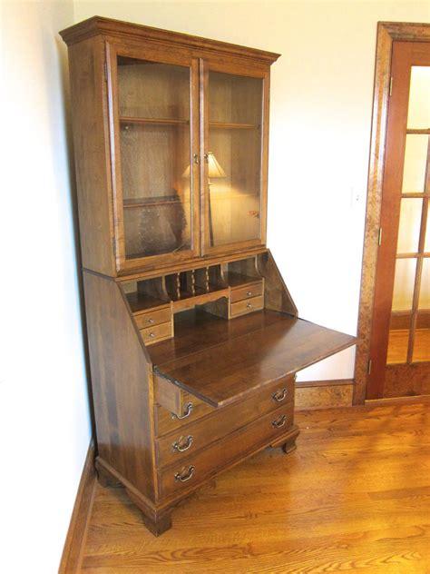 ethan allen secretary desk ethan allen furniture secretary desk heirloom maple wood
