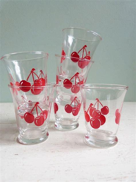 Kitchen Juice Glasses by Vintage Libbey Juice Glasses Cherries Cherry Set Of