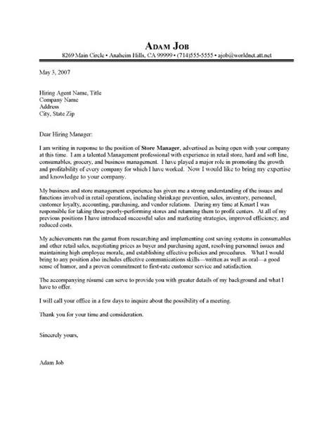 retail resume cover letter exles retail manager cover letter sle resume cover letter