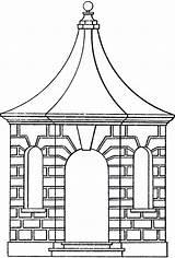 Line Pavilion Clipart Gazebo Clip Cliparts Library Graphics Thegraphicsfairy Fairy sketch template