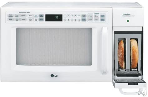 toaster on top of microwave lg ltrm1240sw microwave toaster oven with 9 browning