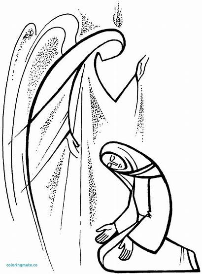 Coloring Annunciation Gabriel Mary Pages Getcolorings Printable
