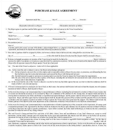 sales agreement   word  documents