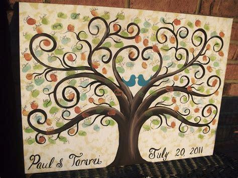 wedding guest book thumbprint tree 22 x 28