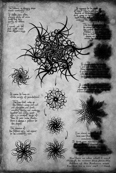 Shallan's Sketchbook – Pattern. Words of Radiance By Brandon Sanderson | Stormlight archive