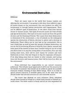 Essay on Capitalism Destroys Nature and Human Nature