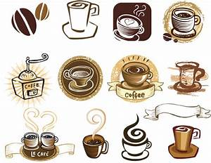 20 vintage coffee labels vector images vector vintage With coffee cup labels