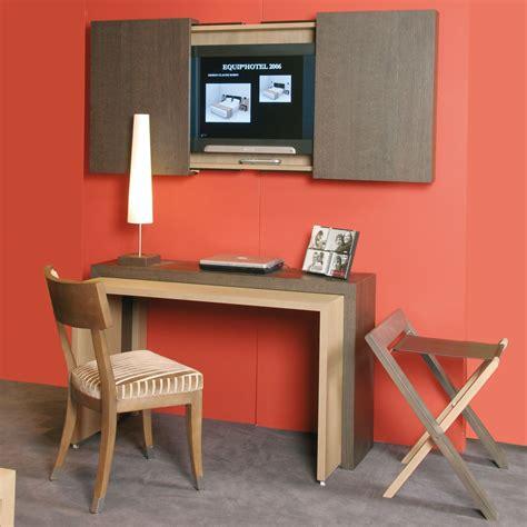 bureau meuble tv bureau et meuble tv russy pour chambre d 39 hôtel
