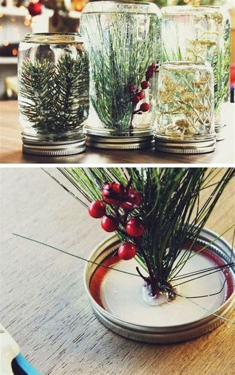 christmas mason jar planter decor ideas homemydesign