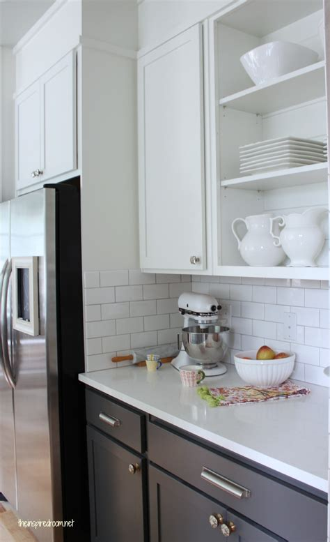 grey and white cabinets kitchen cabinet colors before after the inspired room