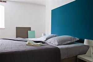 enamel blue galerie photo peinture tollens With marvelous photo peinture salon 2 couleurs 1 decorer les murs de ma cuisine grise et rouge