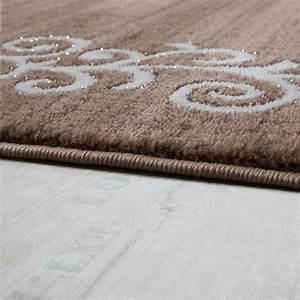 Teppich Beige Weiss : designer teppich mit floral glitzergarn muster beige wei braun meliert teppiche kurzflor teppiche ~ Eleganceandgraceweddings.com Haus und Dekorationen