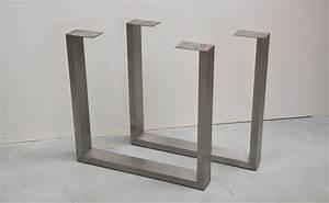 Pied De Table En Acier : en forme de u en acier inoxydable pieds de table pieds de ~ Teatrodelosmanantiales.com Idées de Décoration