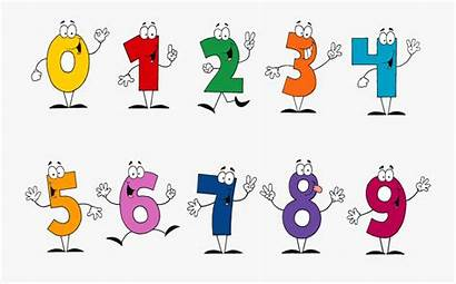 Number Numbers Cartoon Separate Transparent Clipart Clip