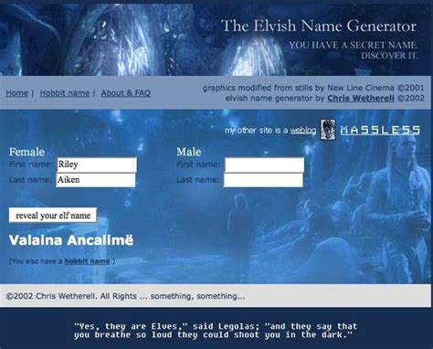 elvish  generator ive