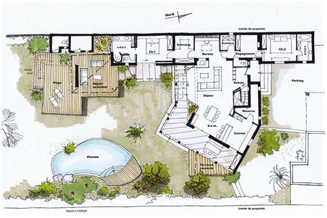plan maison piscine interieure plan dune maison avec piscine interieure maison moderne