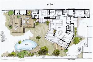 architecte aubagne renovation extension d39une maison With plan de maison avec piscine interieure