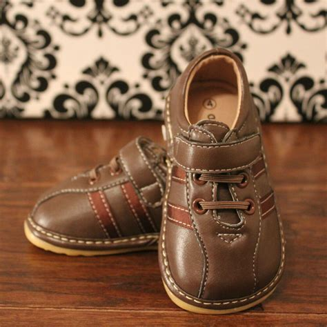 boys toddler brown squeaky sneaker shoes sizes 3 4 5 6 379 | s l1000