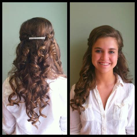 prom curls great for strapless dresses updo or wedding