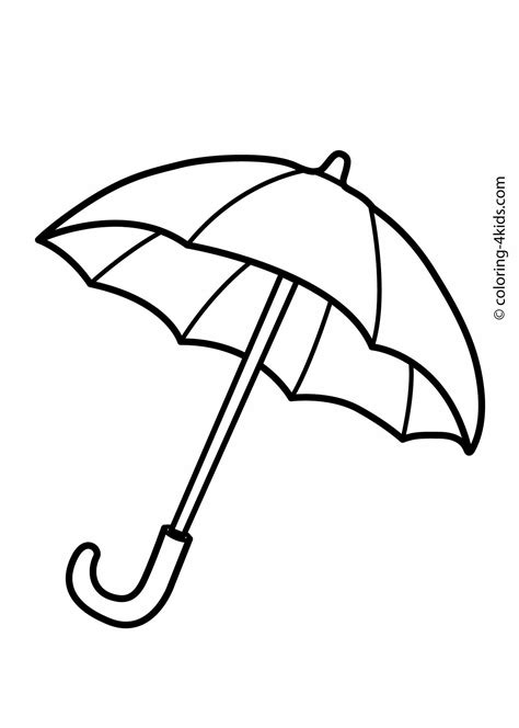 umbrella coloring pages  kids printable drawing