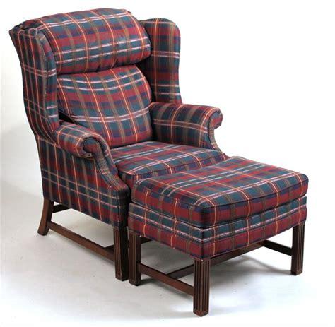 igavel auctions georgian style mahogany plaid upholstered