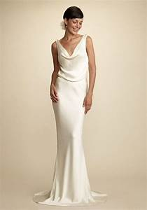 sheath v neck floor length silk crepe back satin wedding With silk sheath wedding dress