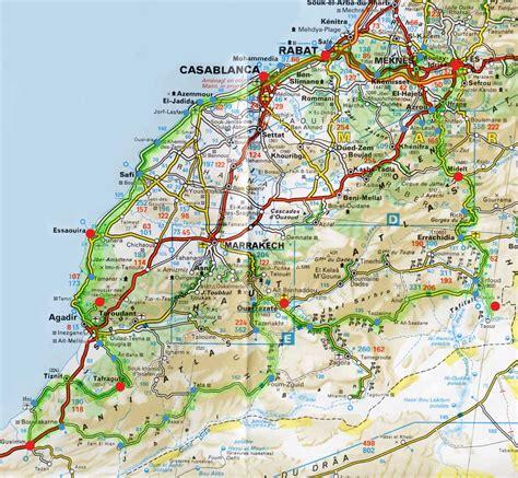Carte Du Maroc Avec Les Principales Villes by Cartograf Fr Le Maroc Carte Des Routes Villes Et