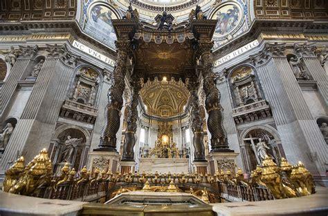 Baldacchino Di Bernini by Baldacchino Di San Pietro Opera Bernini A Roma Itmap