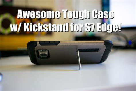 Awesome Tough Case For Galaxy S7 Edge W Kickstand