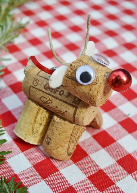 christmas cork crafts  festive red ted art