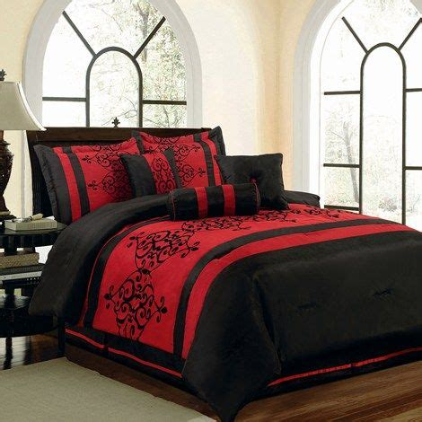 catherine 7pc queen bedding set cute beding red